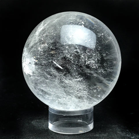 "Polished Clear Quartz Sphere From Brazil (2.3"") - Astro Gallery"