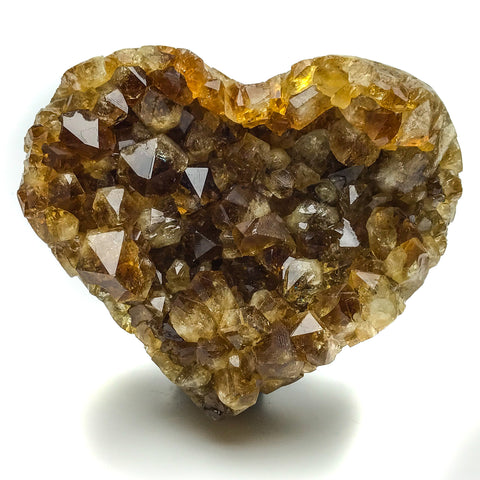 Citrine Cluster Heart from Uruguay