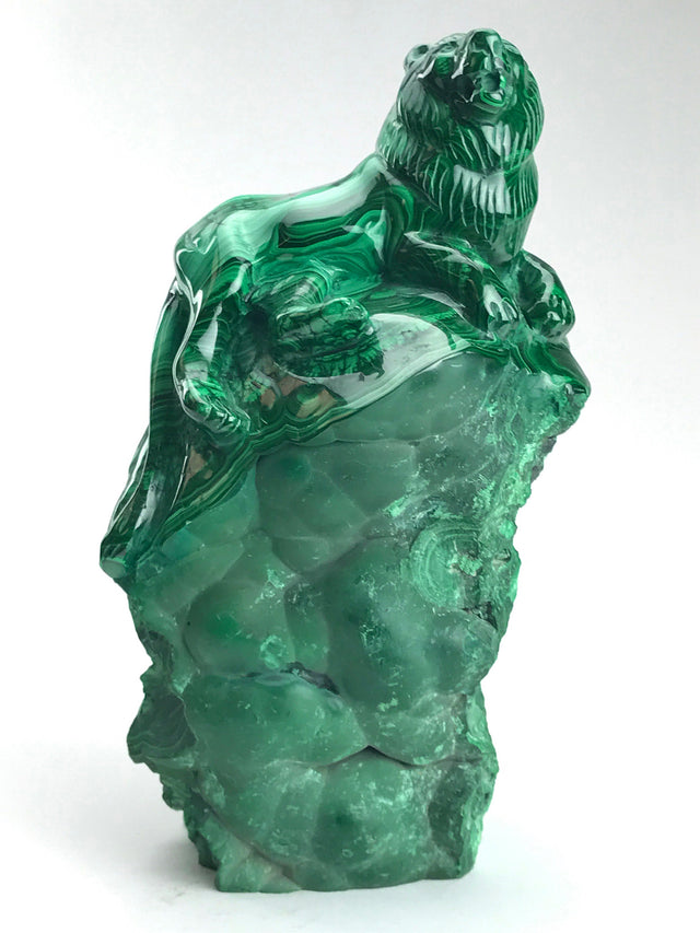 Malachite Lion Carving - Astro Gallery