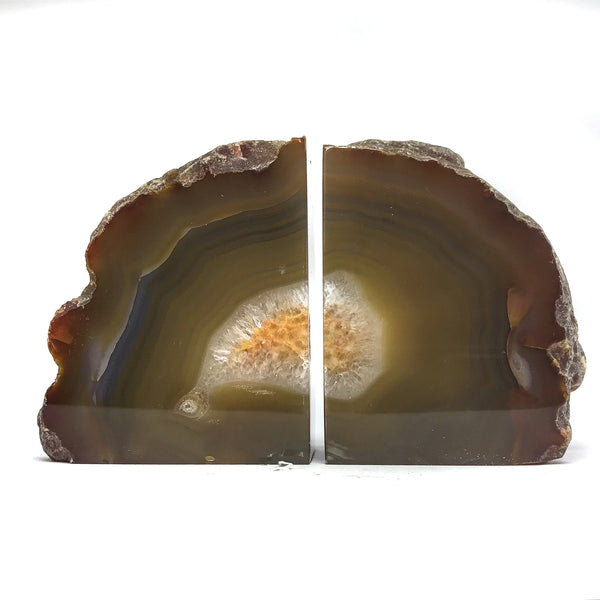 Natural Banded Agate Bookends (5.5 lbs) from Brazil