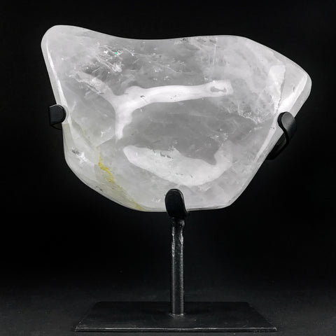 "Large Polished Clear Quartz On Stand From Brazil (9.5"" on Stand)"