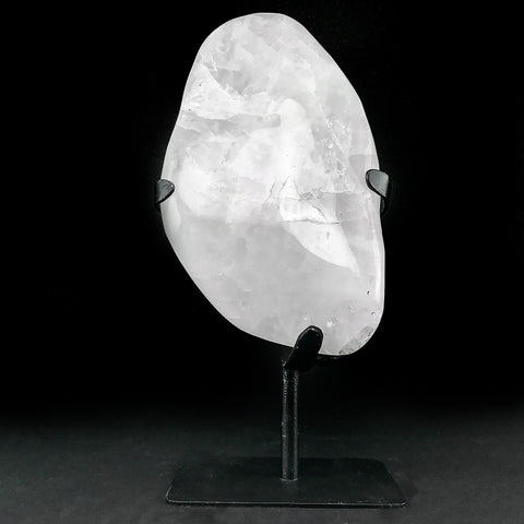 "Large Polished Clear Quartz On Stand From Brazil (14"" on Stand)"