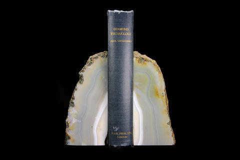 Brazilian Agate Bookends