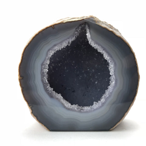 Banded Agate Geode From Brazil (.96 lbs)