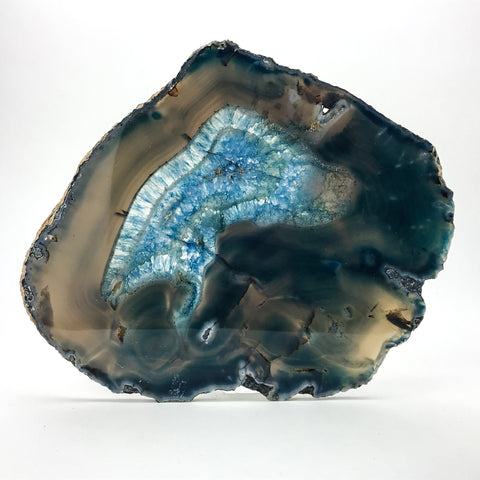 Polished Brazilian Banded Agate Slice - Astro Gallery