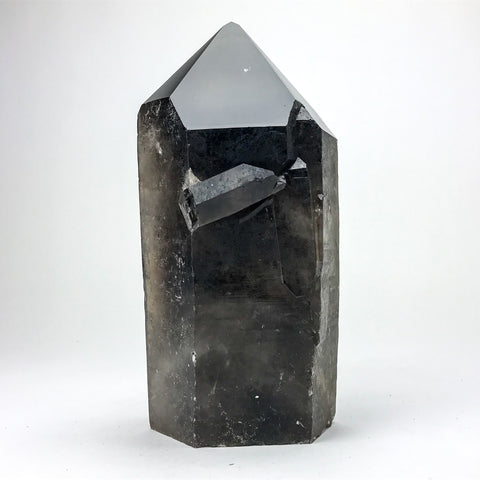 Polished Smoky Quartz Crystal Point From Brazil