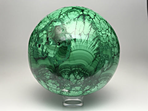 Polished Malachite Sphere - Astro Gallery