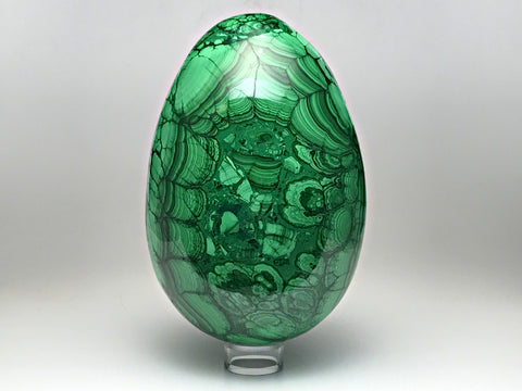 Polished Malachite Egg