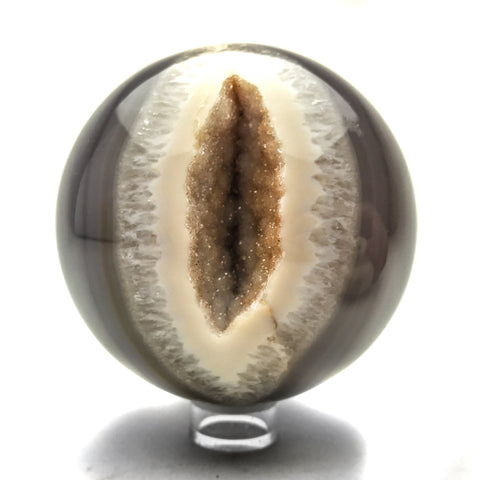 Natural Geode Agate Sphere (3.8