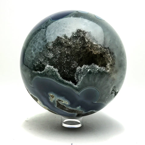 Natural Geode Agate Sphere (4.4