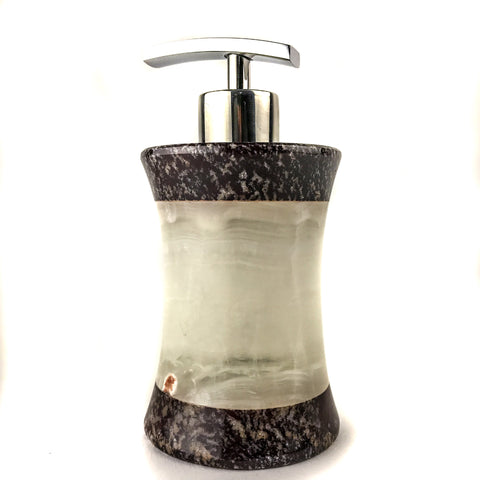 Handmade Natural Mexican Onyx Soap Dispenser - Biconcave - Astro Gallery