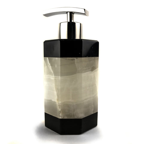 Handmade Natural Mexican Onyx Soap Dispenser - Octagon - Astro Gallery