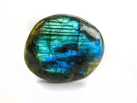 Polished Labradorite Palm Crystal from Madagascar