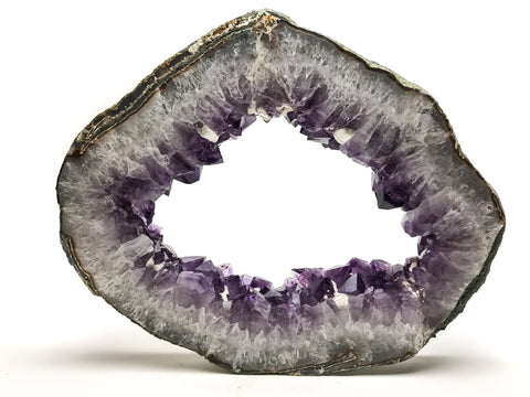 Amethyst Geode Slice From Brazil (19.5 pounds)
