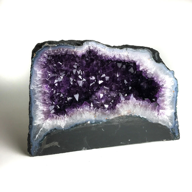 Amethyst Cluster Geode From Brazil (40.78 lbs) - Astro Gallery