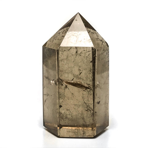 Gem Smoky Quartz Polished Point From Brazil - Astro Gallery