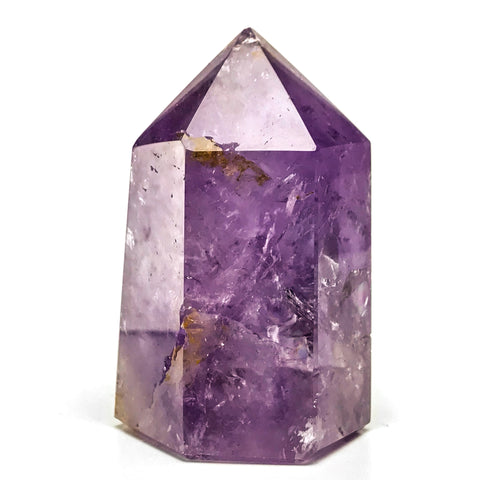 Polished Amethyst Crystal Point From Brazil