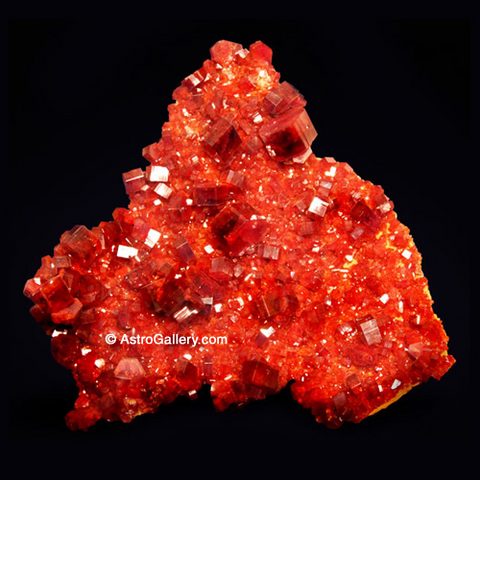 VANADINITE ON BARITE From Mibladen Mine, Morocco - Astro Gallery