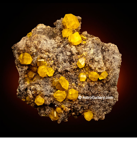 Sulfur from Cozzodisi Mine - Astro Gallery