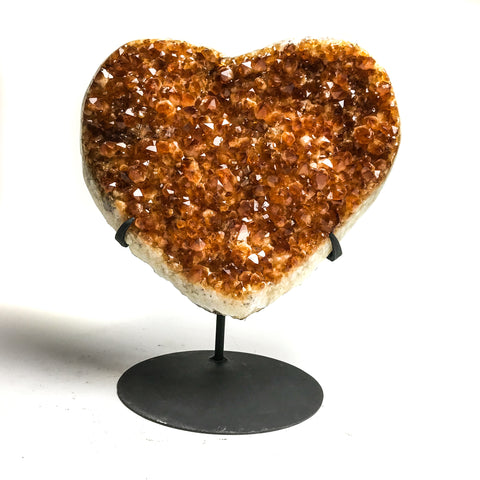 Citrine Cluster Heart (Large) from Uruguay