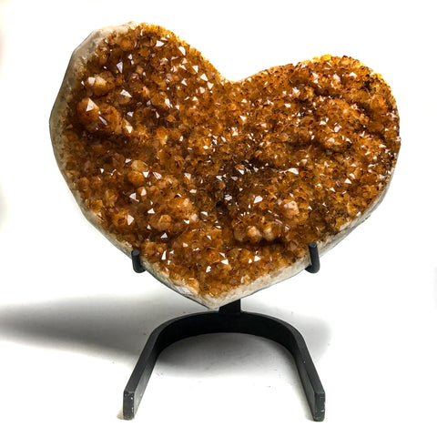Citrine Cluster Heart from Uruguay - Astro Gallery