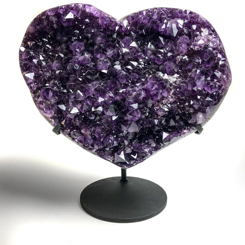 Amethyst Cluster Heart on Stand from Uruguay