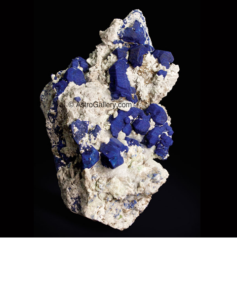 Lazulite on Matrix - Astro Gallery