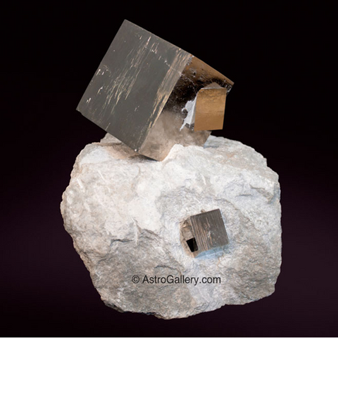 Pyrite Cubes in Basalt - Astro Gallery