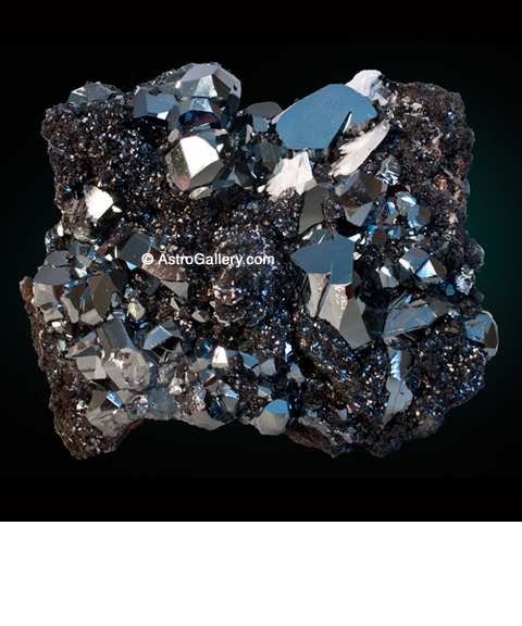 Hematite with Housmanite - Astro Gallery