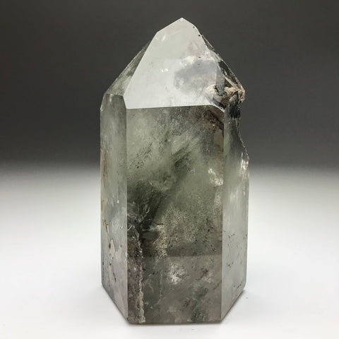 Gem Garden Quartz Polished Point From Brazil