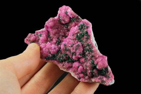 Cobaltoan Calcite with Malachite From Mashamba West , Kolwezi, Western area, Shaba Cu belt, Shaba, Congo - Astro Gallery