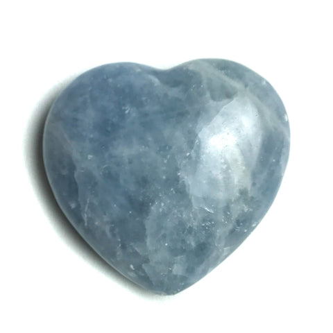 BLUE CALCITE HEART FROM MEXICO (192.5 grams)