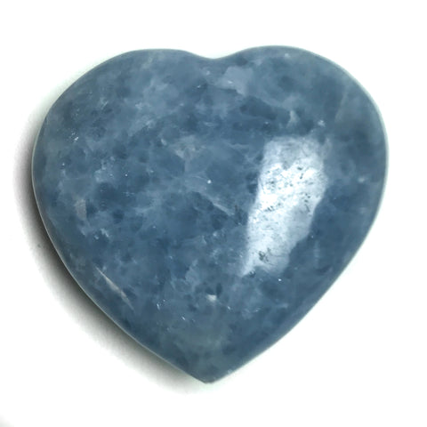 BLUE CALCITE HEART FROM MEXICO (312 grams)