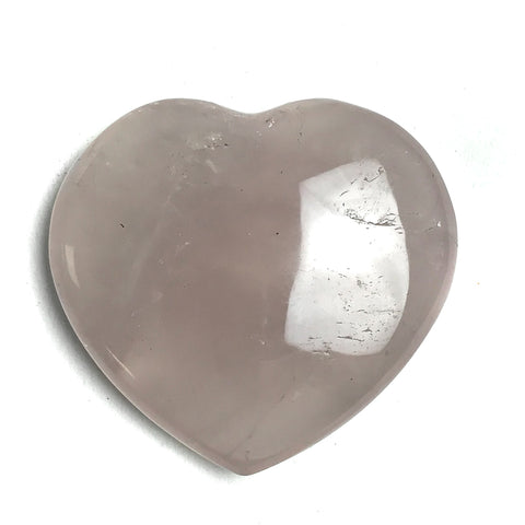 "Polished Rose Quartz Heart (2.1"", 73 g) - Astro Gallery"
