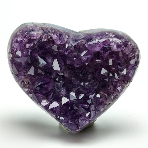 Amethyst Cluster Heart from Uruguay (1.28 lbs) - Astro Gallery