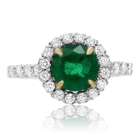 14k White Gold Emerald Ring (KR1575WYEM-1)