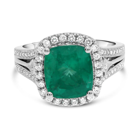 18k White Gold Emerald Ring (KR2054WEM-18K)