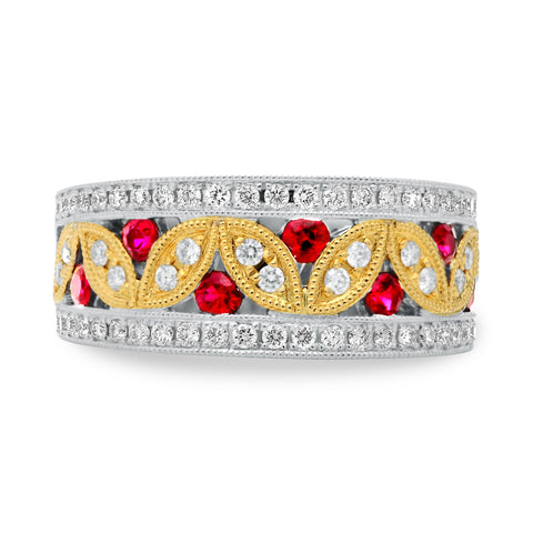 14k White Gold Ruby Ring (KR2286WYRB-2)