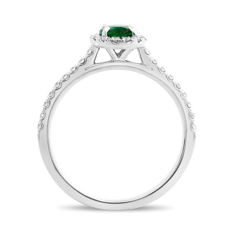14k White Gold Emerald Ring (KR3648-4)