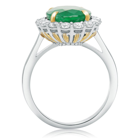 18k White Gold Emerald Ring (KR3712WYEM-18K-2)
