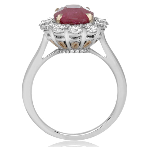 18k White Gold Ruby Ring (KR4161WYRB-18K)