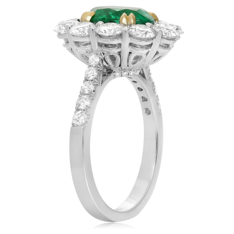 18k White Gold Emerald Ring (KR4192WYEM-18K-1)
