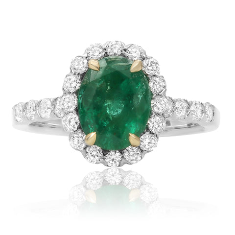 14k White Gold Emerald Ring (KR5458WYEM-6)