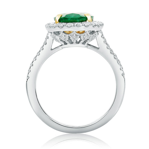 14k White Gold Emerald Ring (KR5554WYEM-1)