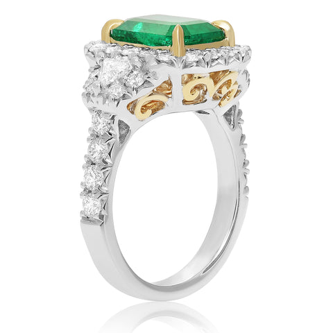 18k White Gold Emerald Ring (KR5789-11)