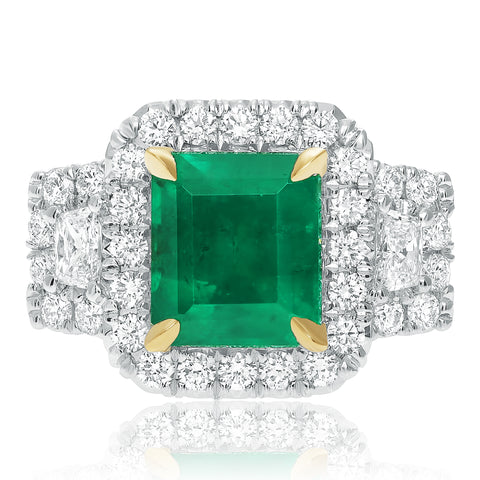 18k White Gold Emerald Ring (KR5789-12)