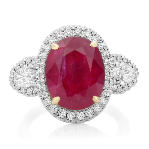 Platinum Ruby Ring (KR5789-23)