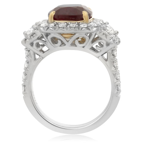 Platinum Ruby Ring (KR5789-25)