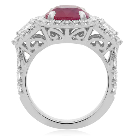 18k White Gold Ruby Ring (KR5789A-8)