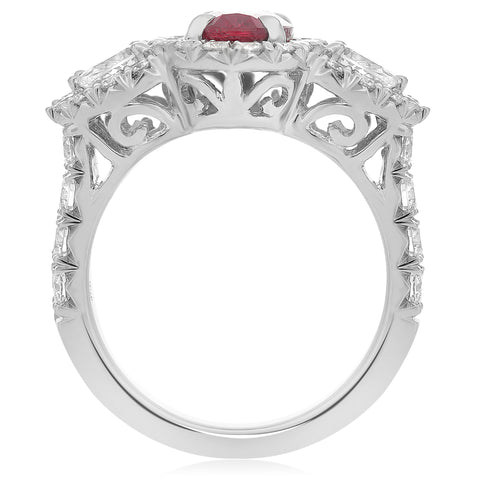 18k White Gold Ruby Ring (KR5789A-9)